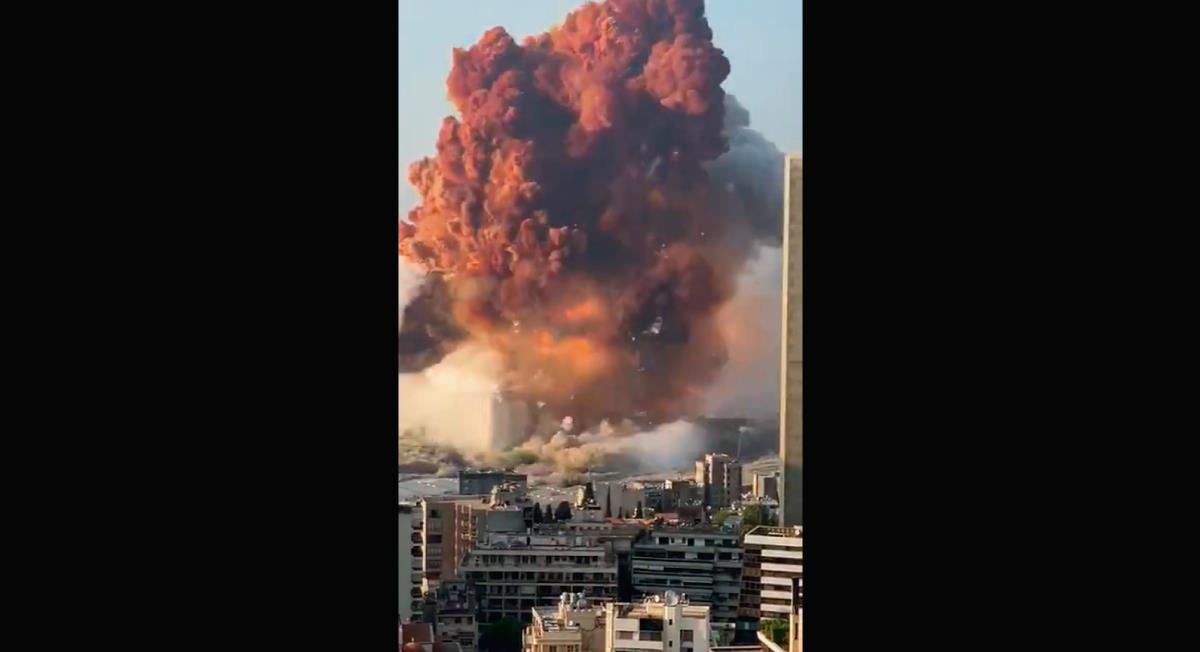 Video registró impactante explosión en Beirut, Líbano. Foto: Twitter Captura de video @ChaacTlaloc