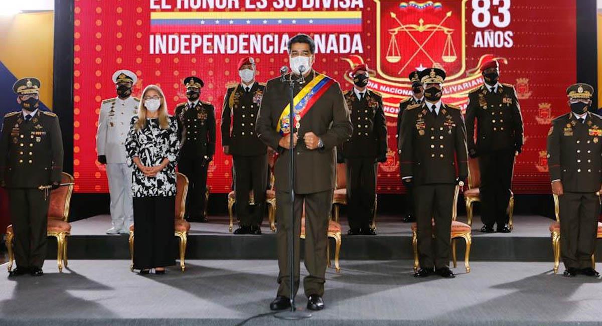 Nicolás Maduro, presidente de Venezuela durante un acto militar. Foto: Twitter / @NicolasMaduro
