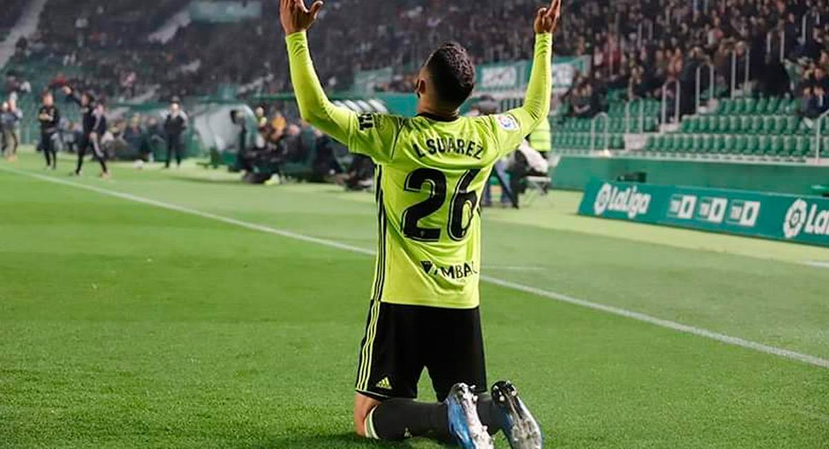 Luis Suárez, jugador colombiano en Real Zaragoza. Foto: Twitter @RealZaragoza