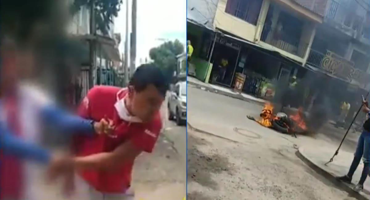 Leonel Silva fue agredido físicamente por la muchedumbre de Los Pinos, en Neiva. Foto: Twitter / Captura video @NoticiasCaracol