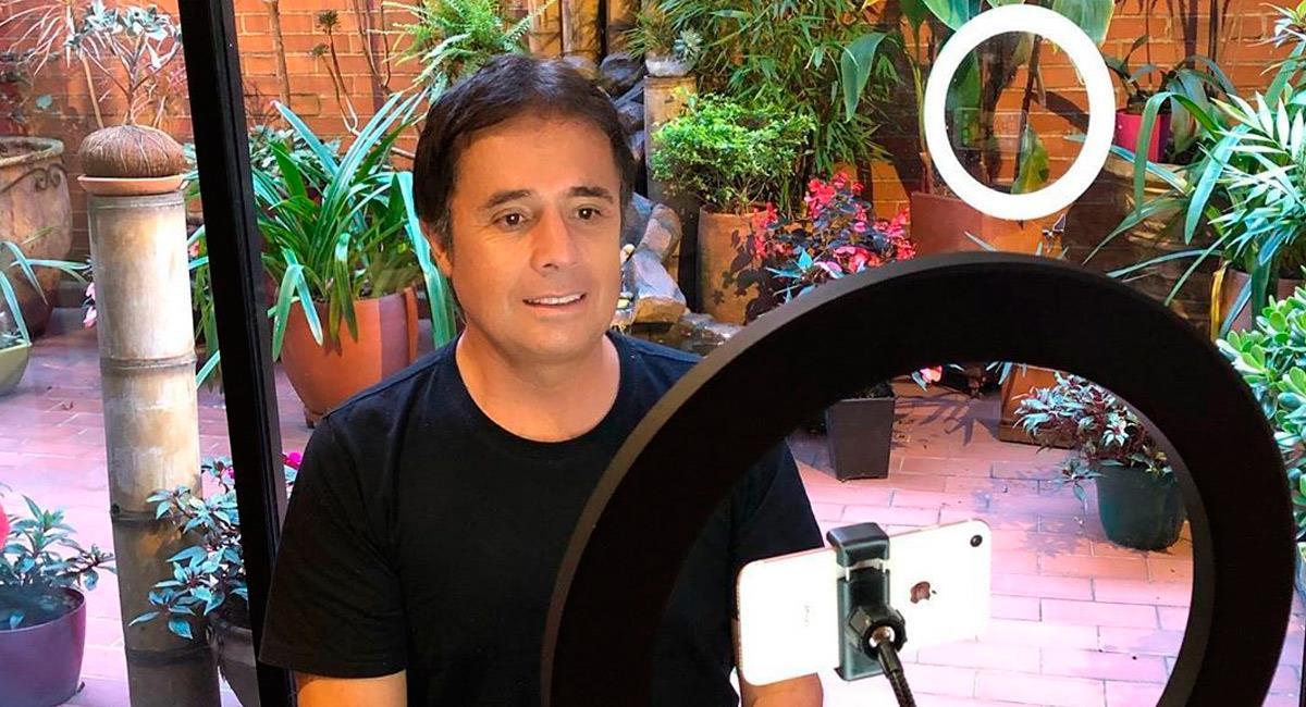 César Augusto Londoño, periodista deportivo. Foto: Instagram @cesaralo