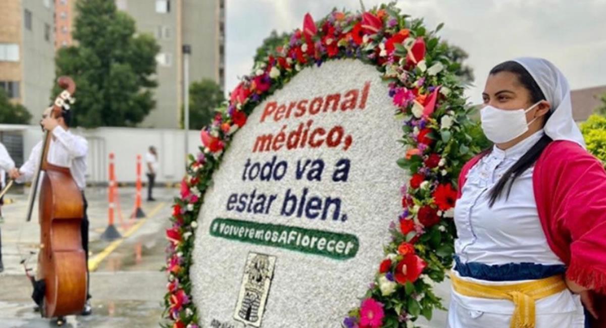 """Las 'silletas' llegan a diversas ciudades del país, con un mensaje de """"esperanza"""". Foto: Twitter @AlcaldiadeMed"""