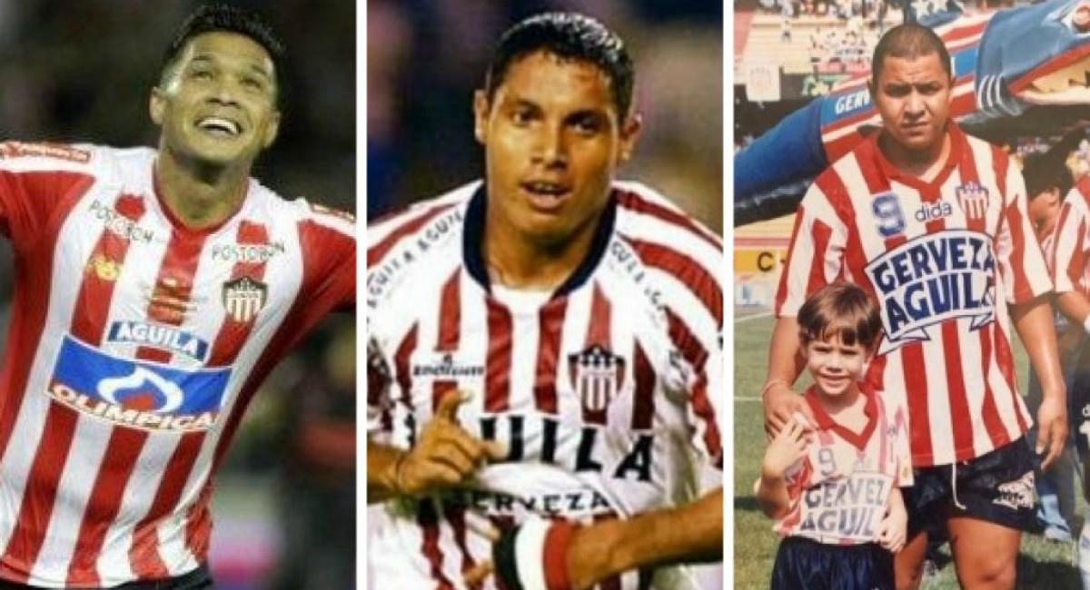 Grandes goleadores en la historia de Junior de Barranquilla. Foto: Instagram Prensa redes Teófilo, Valenciano y Martín Arzuaga.