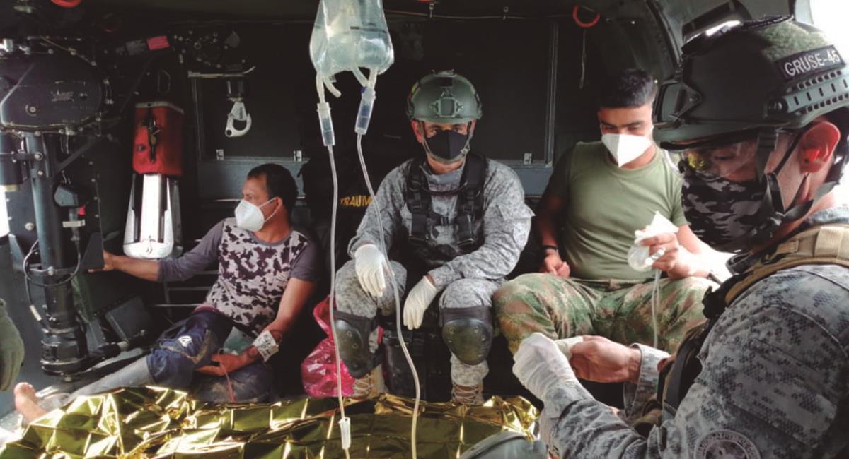 Ciudadano herido tras atentado de las FARC. Foto: Twitter @COMANDANTE_EJC