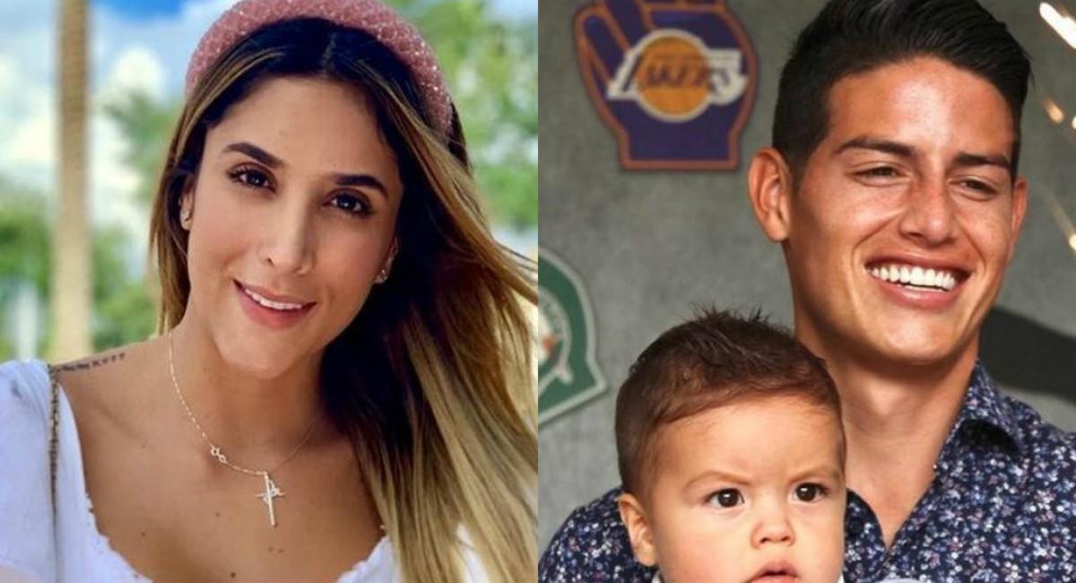 Foto: Instagram Prensa redes James Rodríguez y Daniela Ospina.