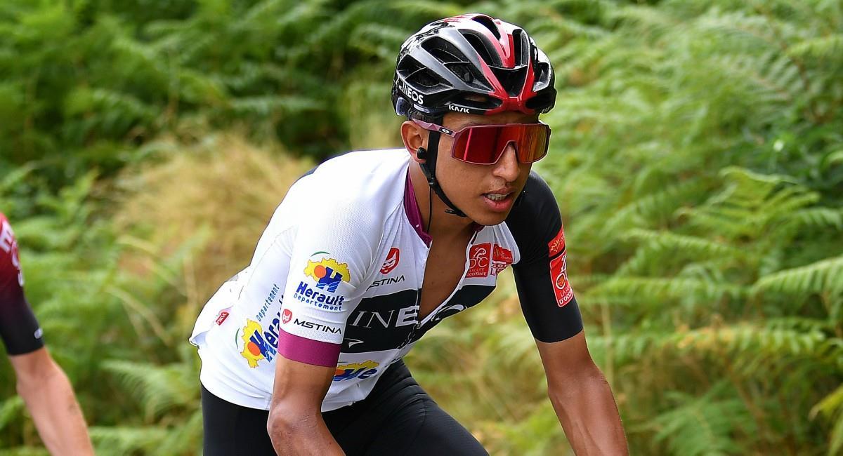 Egan Bernal subcampeón del Tour de Lain. Foto: Twitter Prensa redes Team Ineos.