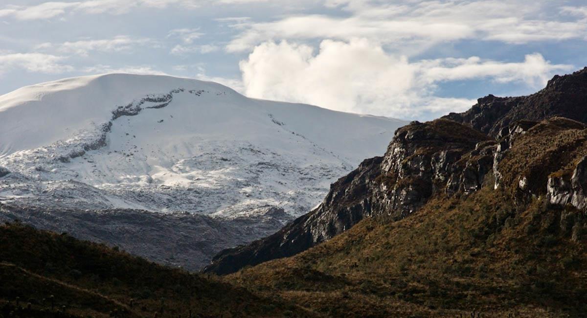 Panorámica del volcán Nevado del Ruiz. Foto: Flickr