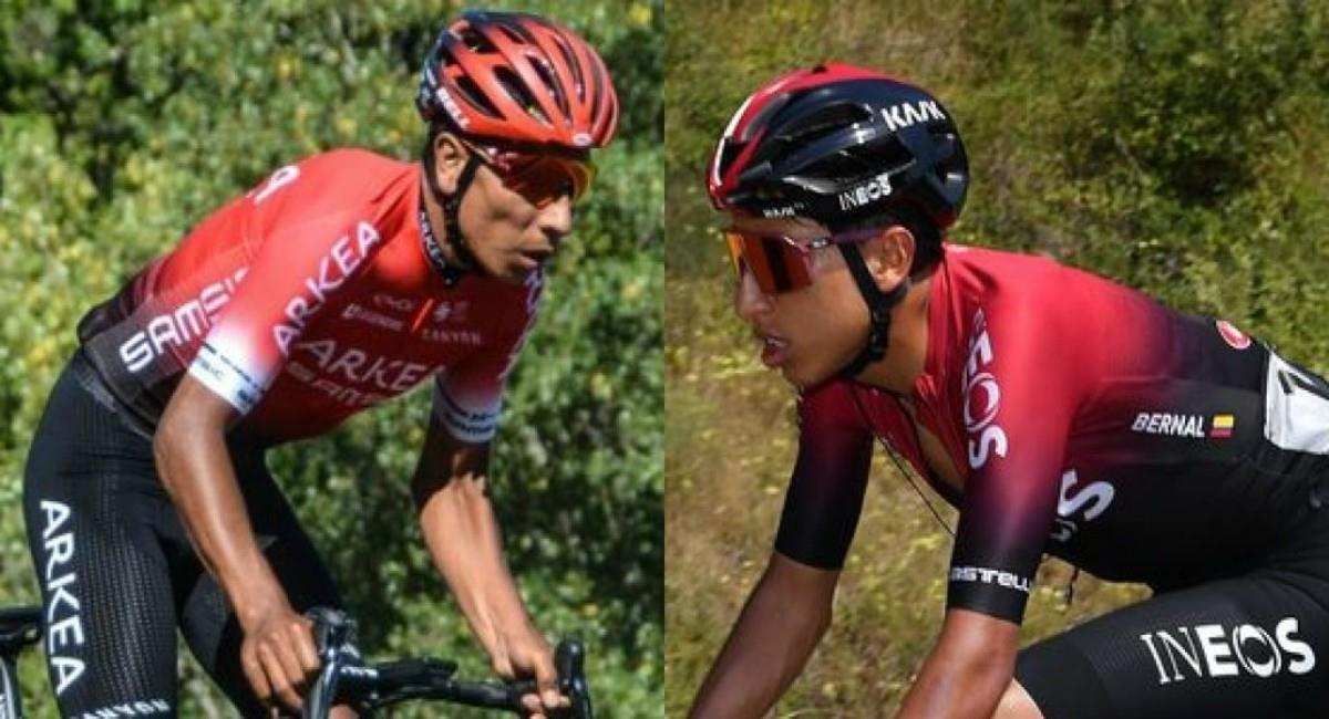 La Critérium Dauphiné será la última carrera de Egan y Nairo de cara al Tour de Francia. Foto: Twitter Prensa redes Team Arkéa Samsic y Team Ineos.