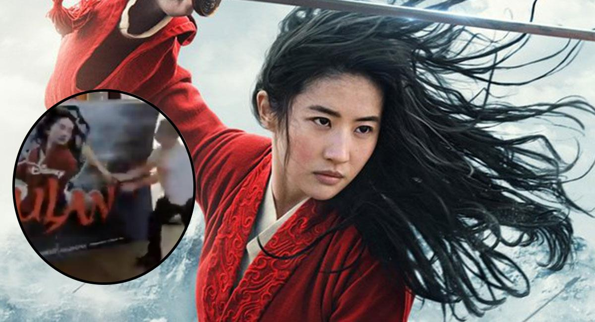 """El estreno vía streaming de """"Mulan"""" causó polémica en el mundo entero. Foto: Twitter @DisneysMulan y @destinationcine"""