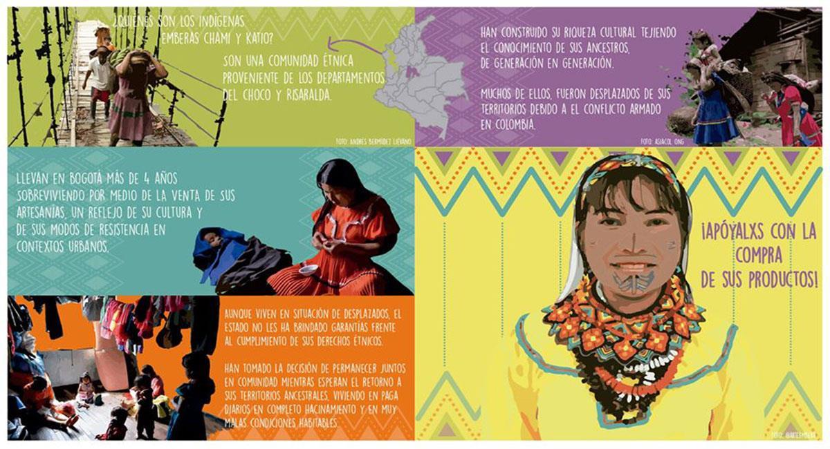 Los indígenas Embera, al igual que otras comunidades, viven en total desatención. Foto: Facebook Comunidad Embera y Katío