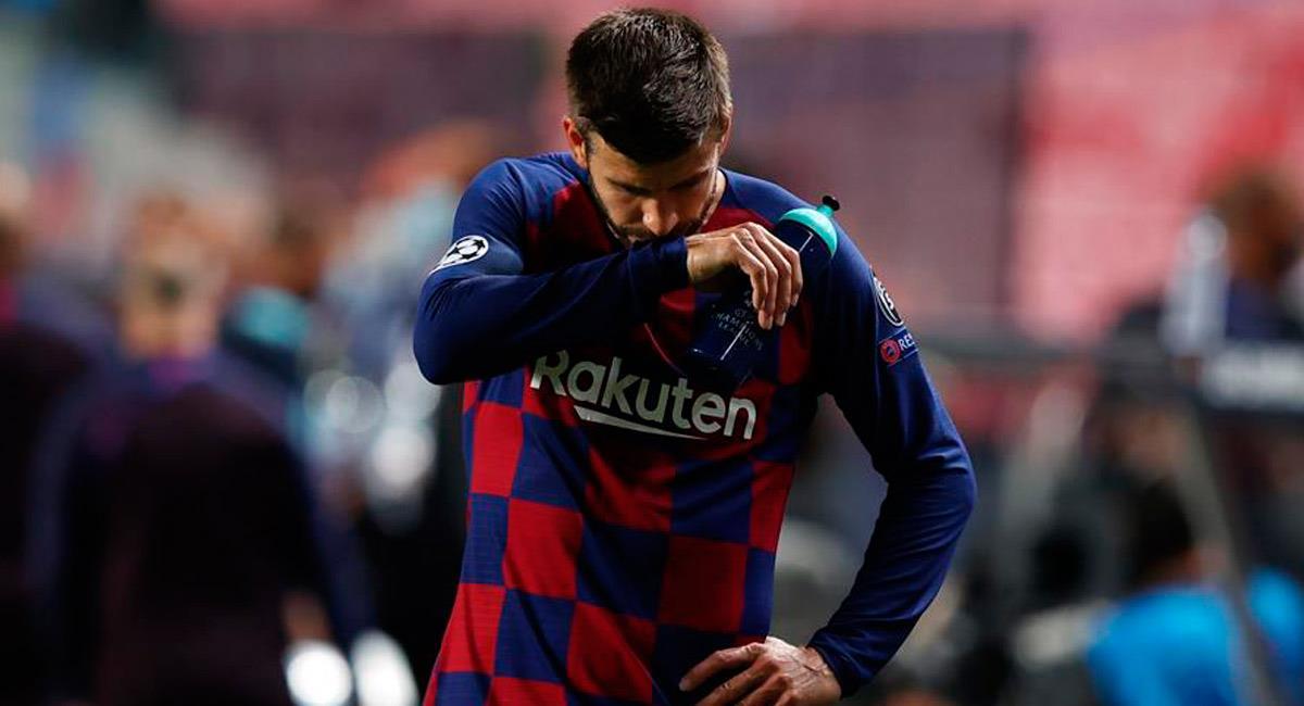 Piqué en el partido ante Bayern Múnich. Foto: EFE