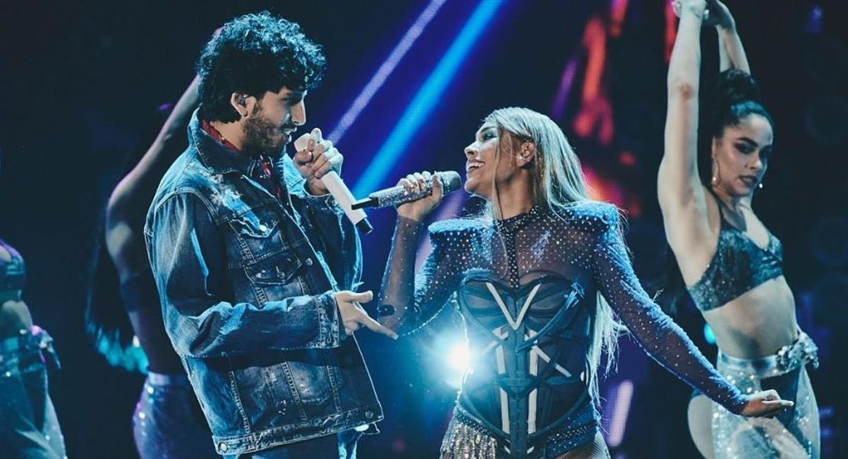 Así se vivió el show de Sebastián Yatra y Danna Paola en los Premios Juventud