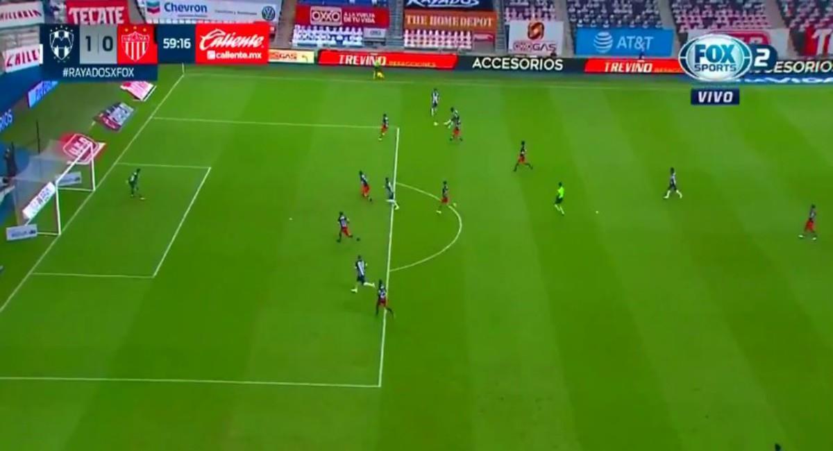 Golazo de Dorlan Pabón en la Liga MX. Foto: Twitter Captura pantalla Fox Sports