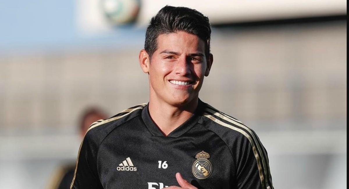 James Rodríguez habló de su duro momento en Real Madrid. Foto: Twitter Prensa redes James Rodríguez.