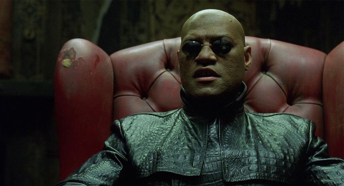 "Laurence Fishburne interpretó a Morfeo en las tres películas de ""Matrix"". Foto: Twitter @GabyMeza8"