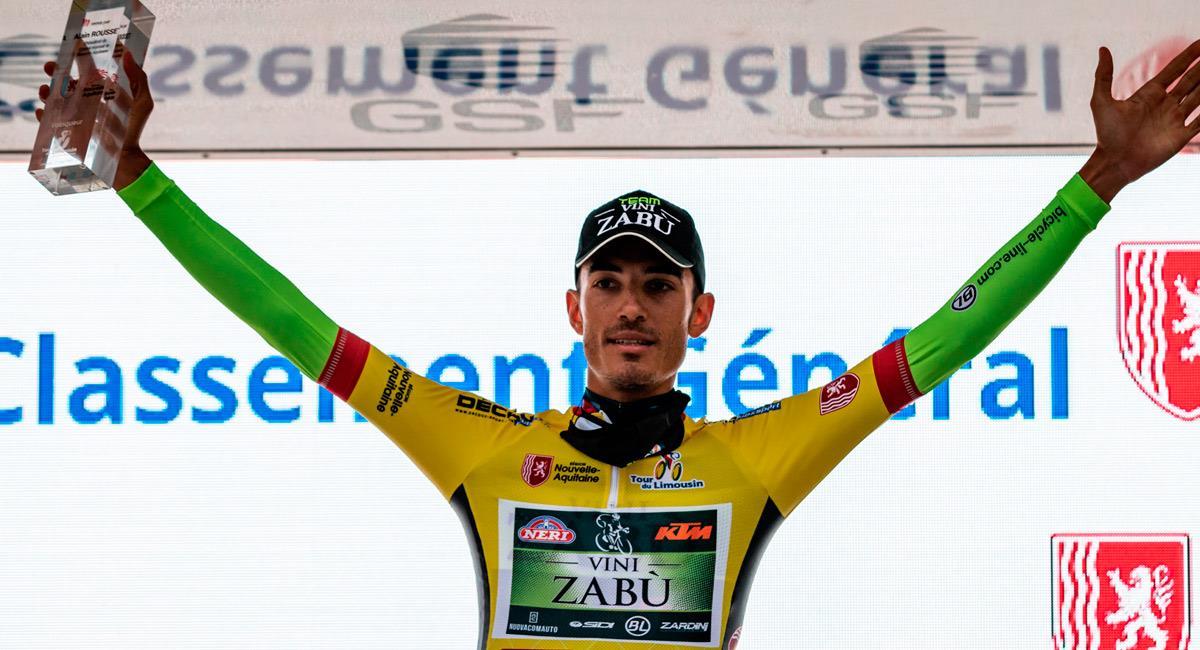 Luca Wackermann es el campeón del Tour du Limousin. Foto: Twitter @tourdulimousin