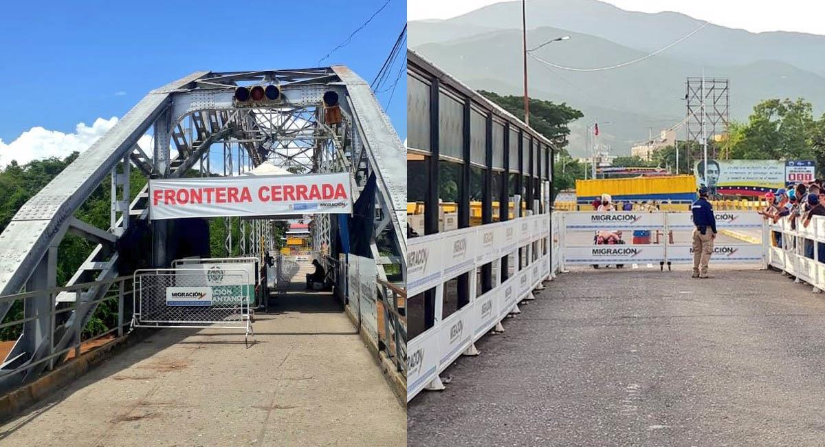 Se desconoce hasta cuándo será el cierre de la frontera entre Colombia y Venezuela. Foto: Twitter / @MigracionCol