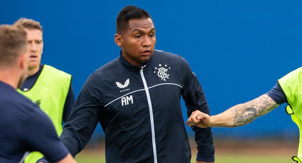 Alfredo Morelos, jugador de Ranger en Escocia. Foto: Twitter @RangersFC
