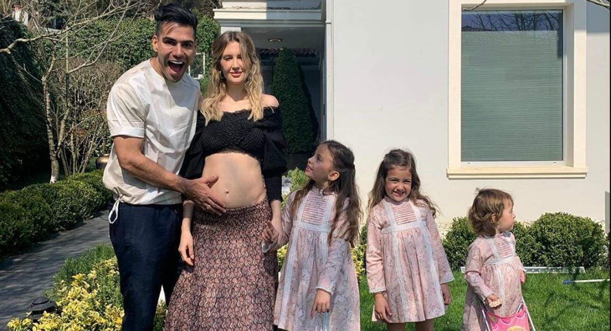 La emoción de Falcao por su nuevo bebé. Foto: Instagram Prensa redes Falcao García.
