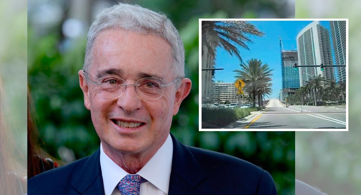 Álvaro Uribe y 'su calle' en EE.UU, imágenes de referencia. Foto: Twitter @Martin232409 / @Edna_margar