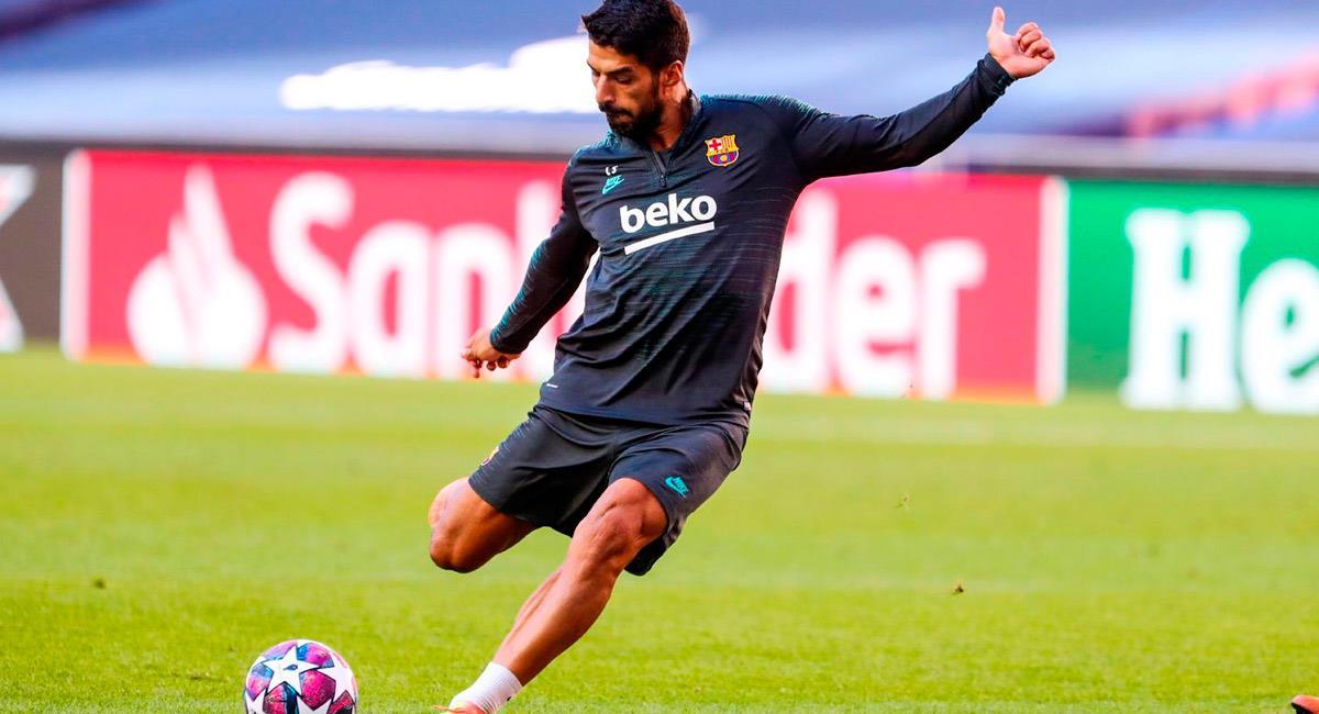 Luis Suárez jugador de Barcelona y amigo de Lionel Messi. Foto: EFE