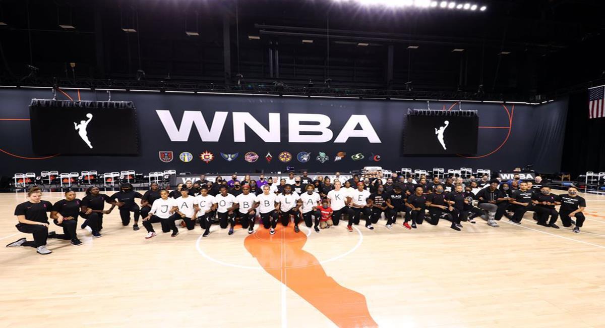 Las jugadoras de la WNBA protestaron contra el racismo. Foto: Facebook WNBA