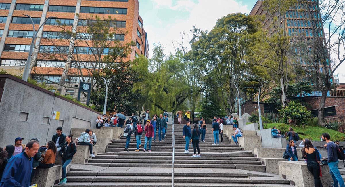 Sitio conocido como Cubos en la Universidad Javeriana, Bogotá. Foto: Twitter / @UniJaveriana