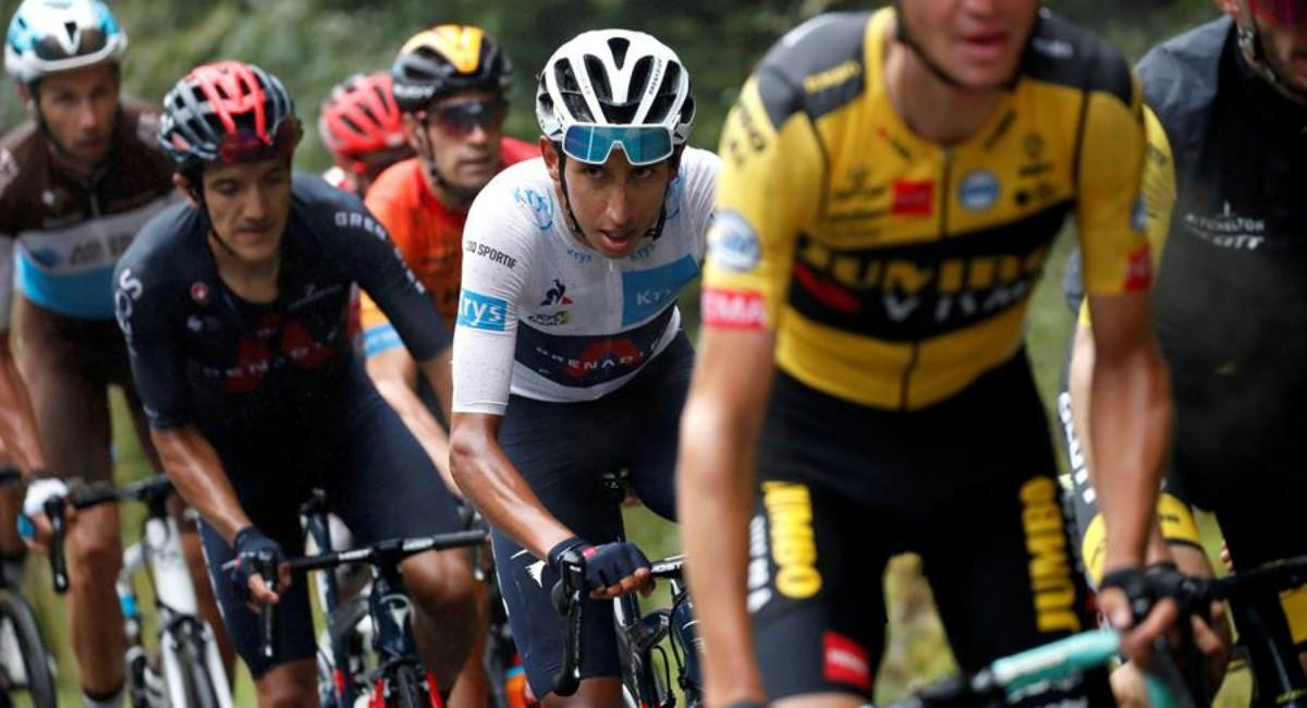 Egan Bernal es segundo en el Tour de Francia. Foto: EFE