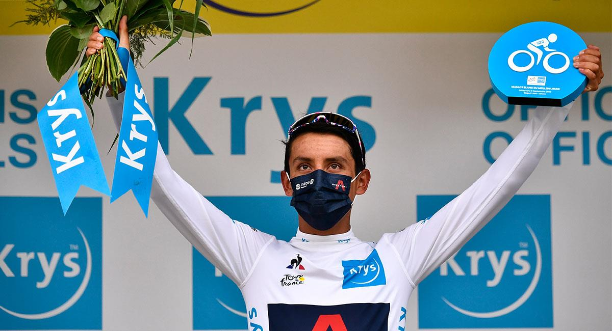 Egan Bernal es el líder de los jóvenes del Tour de Francia. Foto: EFE