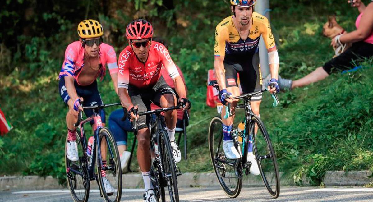 Nairo Quintana en el Tour de Francia. Foto: EFE