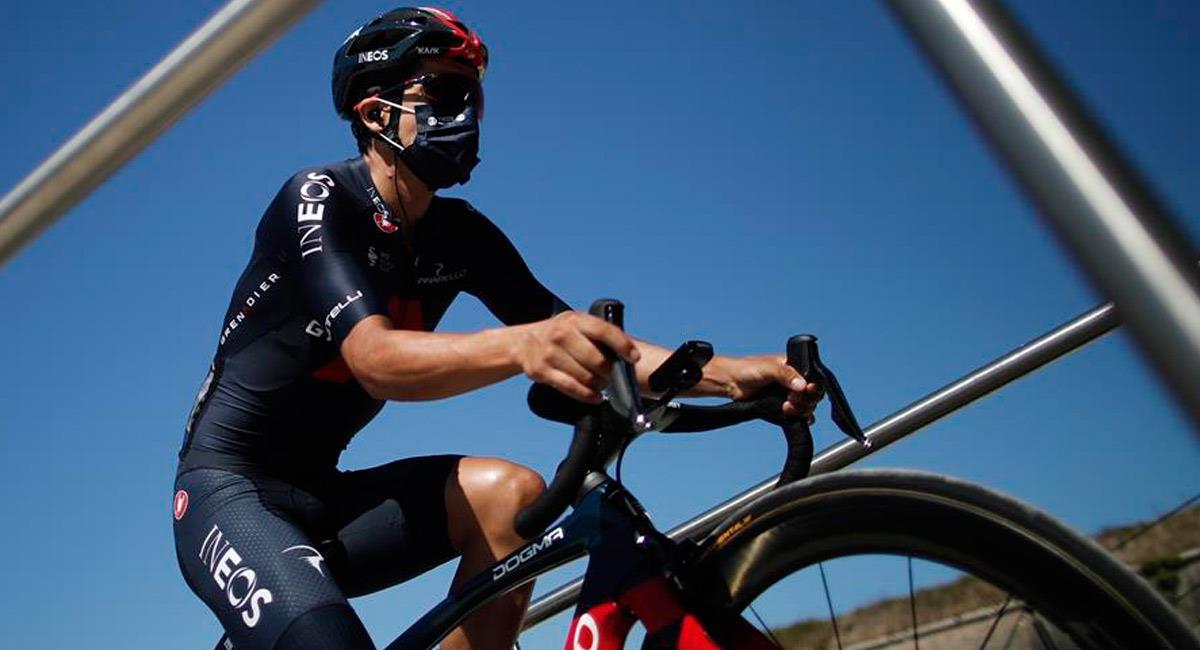 Richard Carapaz, pedalista del Team INEOS. Foto: EFE