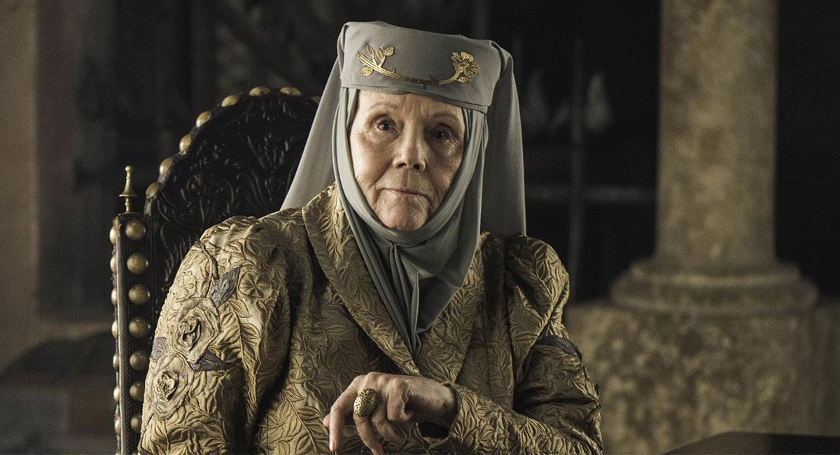 """Diana Rigg realizó uno de sus últimos trabajos en """"Game of Thrones"""". Foto: Twitter @HBO_ES"""