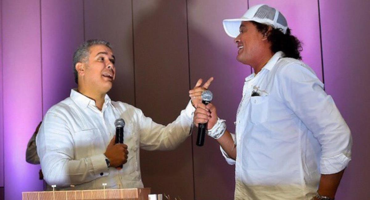 Carlos Vives desde un principio mostró su apoyo a Iván Duque. Foto: Twitter @NCCaribe.