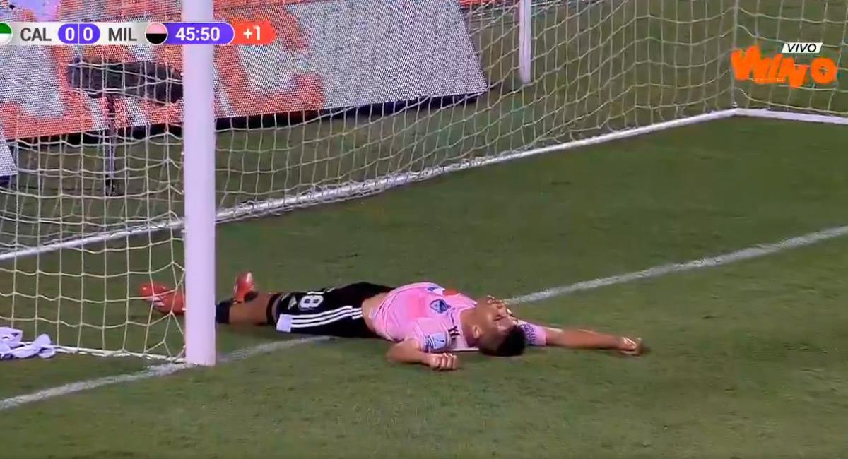 Diego Godoy lamenta perder la opción de anotar. Foto: Twitter Reproducción video @WinSportsTV