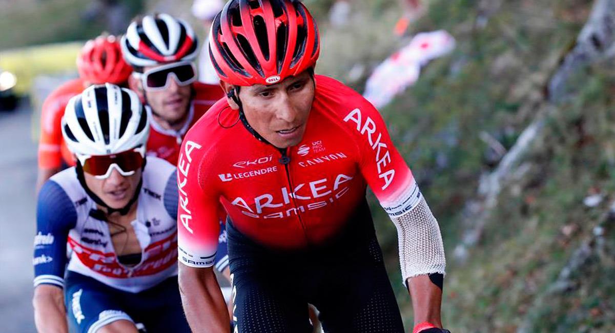 Nairo Quintana en el Tour de Francia 2020. Foto: EFE