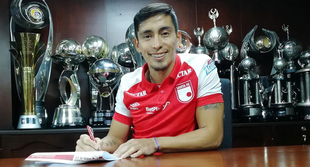 Fabián Sambueza es una de las grandes figuras de Independiente Santa Fe. Foto: Twitter @SantaFe