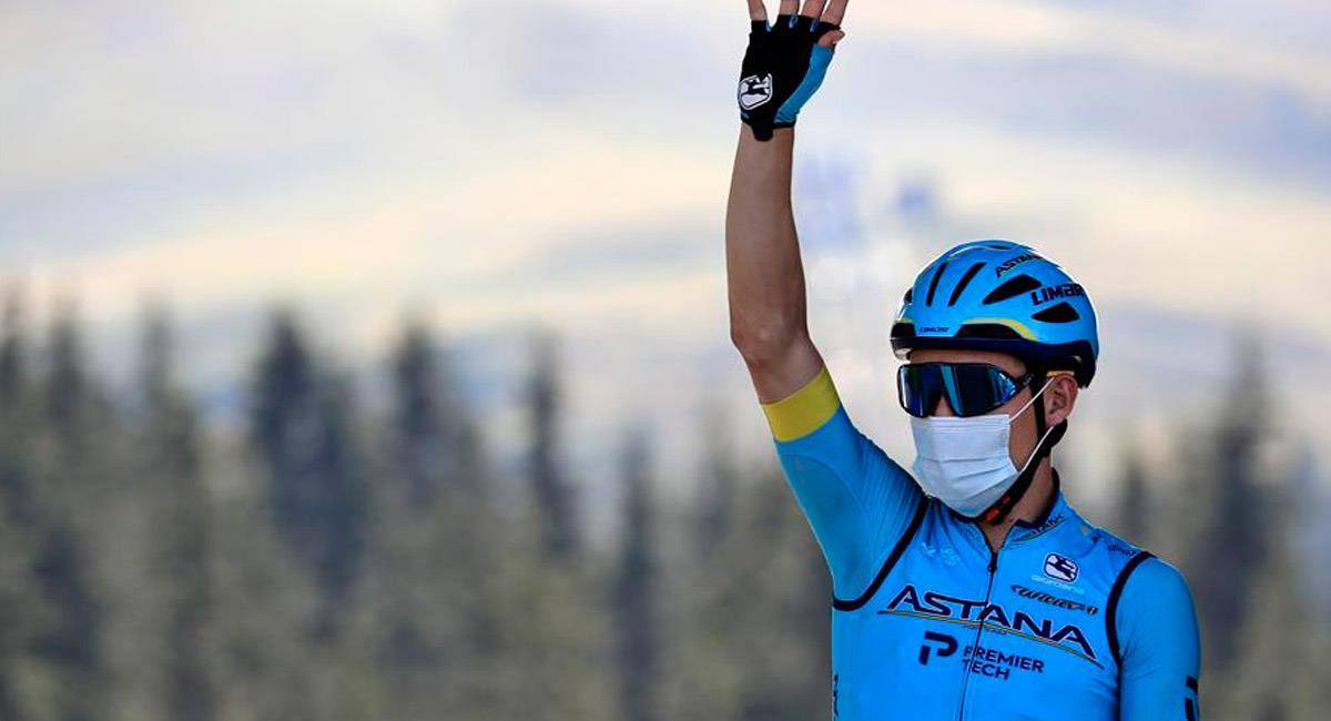 Miguel Ángel López tras terminar la etapa 18 del Tour de Francia. Foto: EFE