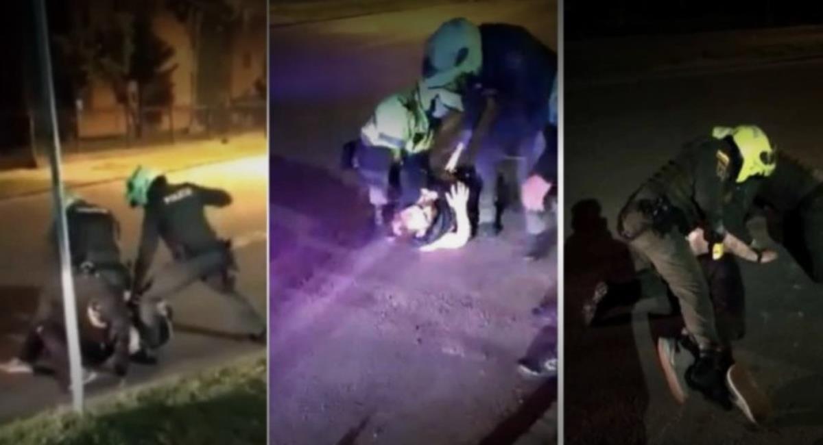 Los patrulleros redujeron a Ordoñez con el uso de un táser. Foto: Twitter / @cconfidencial