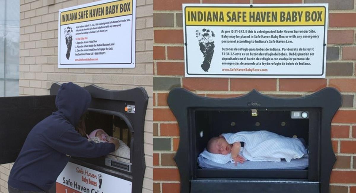 Los bebés serán depositados en una cuna con calefacción antes de que el buzón se cierre para siempre. Foto: Twitter / @MalenaDelTango2