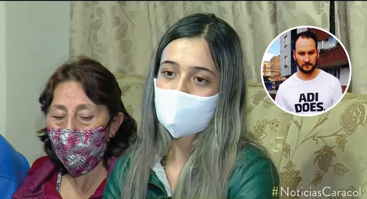 El hombre fue capturado en presencia de su familia. Foto: Youtube Captura de video Noticias Caracol