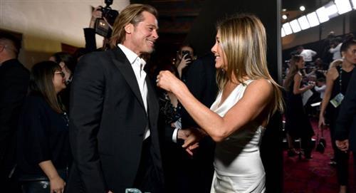 Jennifer Aniston y Brad Pitt se reencuentran y su coqueteo no pasó desapercibido