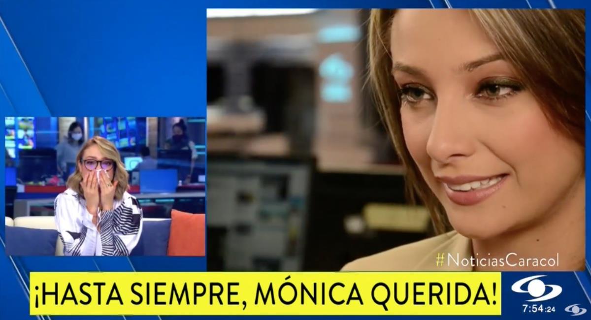 La presentadora se despidió con honores. Foto: Youtube Noticias Caracol.