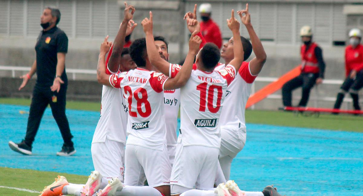 Santa Fe derrotó 2-1 a Deportivo Pereira. Foto: Twitter @Dimayor