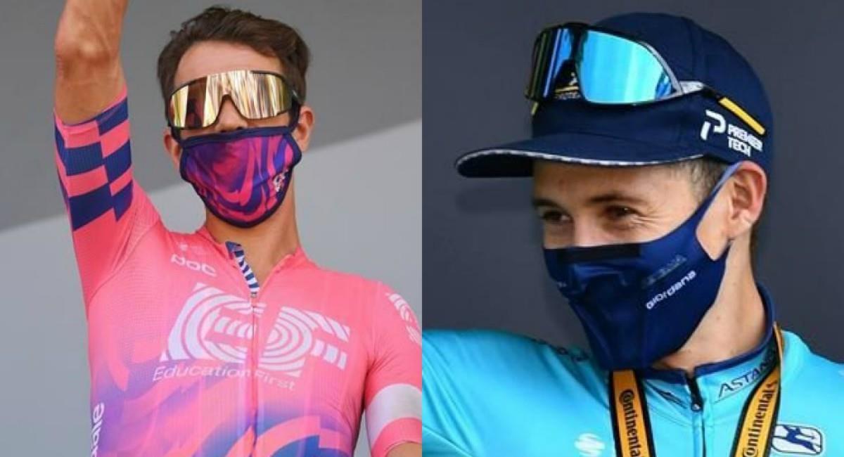 Rigo y López logran quedar en el top 10 del Tour de Francia. Foto: EFE