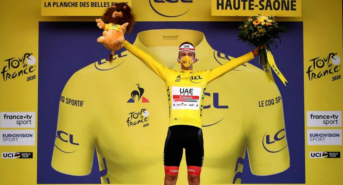 Pogacar habló tras ganar el Tour de Francia. Foto: EFE