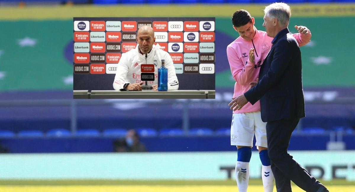 Elogios para Ancelotti y críticas a Zidane. Foto: Twitter Prensa redes Everton y Real Madrid.