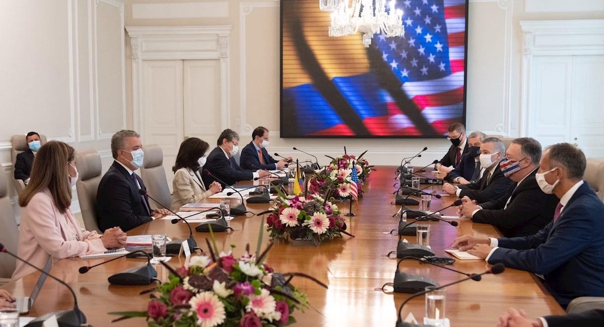 Gobiernos de Colombia y EE.UU. se reúnen en Bogotá. Foto: EFE