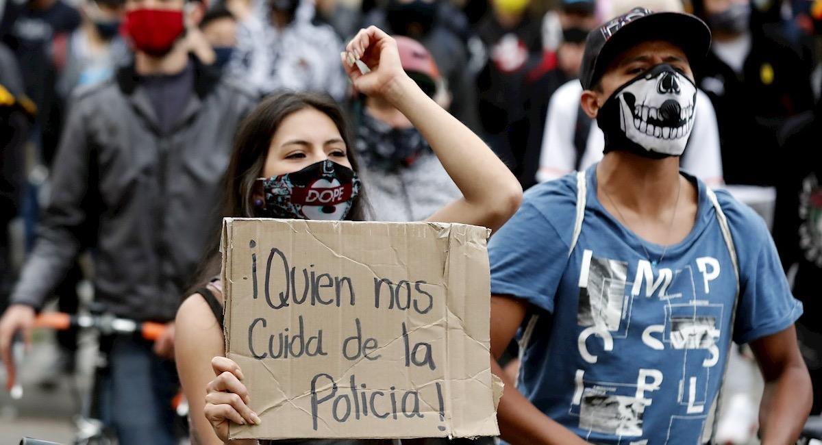 Protestas en contra de la brutalidad policial no se detienen. Foto: EFE