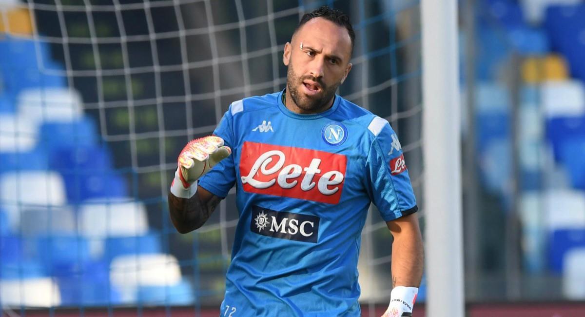 Ospina fue titular en la victoria de Napoli ante Parma. Foto: Twitter Prensa redes Napoli.
