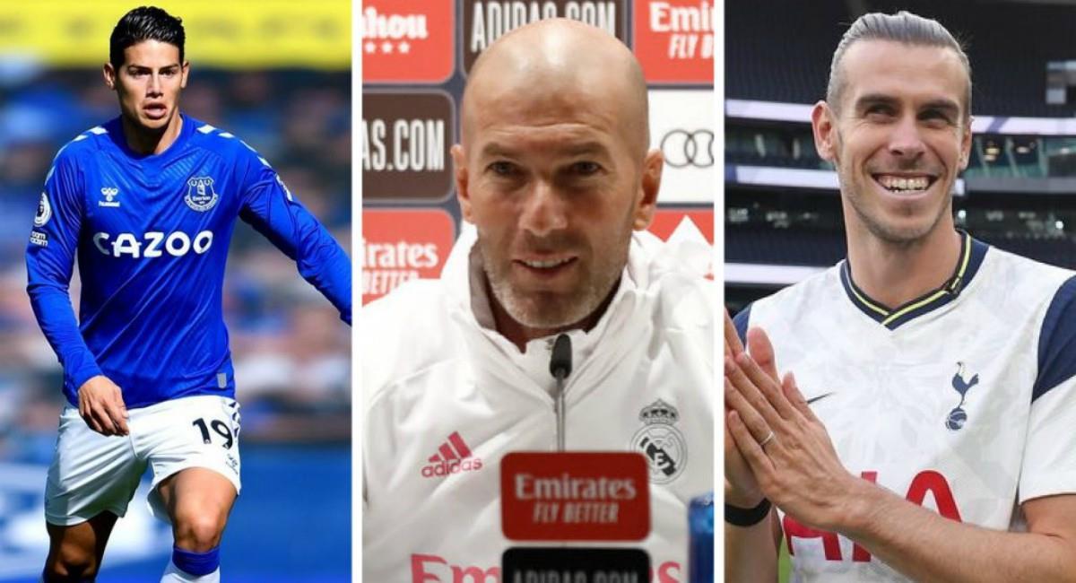Críticas a Zidane por James y Bale. Foto: Twitter Prensa redes Everton, Real Madrid y Tottenham